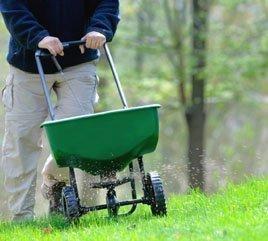 Fertilizer spreader:web
