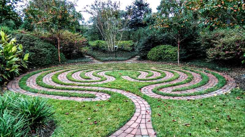 The labyrinth at Lower Cape Fear Hospice