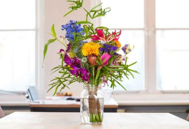 Flowers in a vase stay healthy