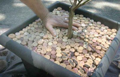 Cork mulch